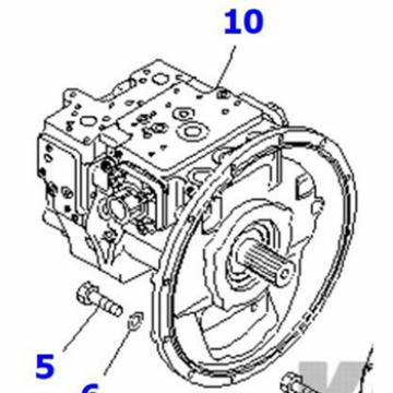 PC160-7 hydraulic pump 708-3M-00020 PC160-7 pump