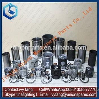 SAA6D125E-5 Engine Cylinder Liner Kit Piston Piston Ring for Komatsu Excavator PC450-8
