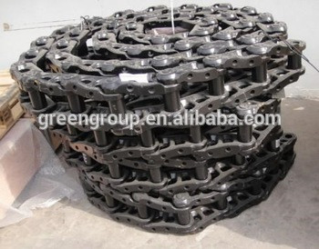 Excavator PC100-5 track chain 202-32-00201, rack chain link assy PC400-7,PC200-7/8,PC210,PC60-7,PC130-7,PC360-7,PC120-3/6,PC35