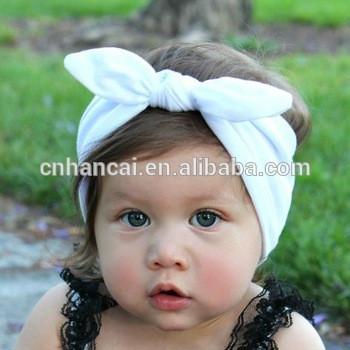 Girls Dot Bowknot Print Floral Headbands Newborn Infant Hair Accessories Children Rabbit Ears Elastic Hair Bands Baby Headwear