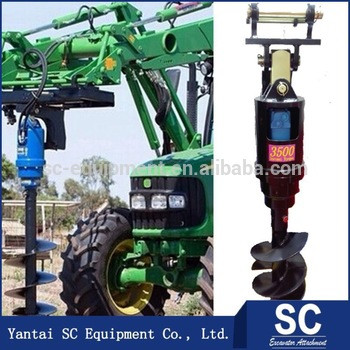 Pole Hole Digger /Earth Auger SC8000 For 5.5T-8T Excavator PC270 For Hole Digging