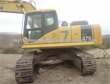 Used komatsu pc270-7 excavator with good condition for sale./Komatsu pc270-7 good excavator