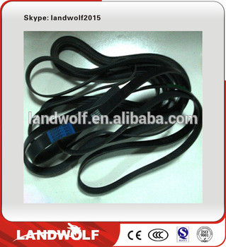 High quality PC270-7 construction excavator spare parts of generator fan belt