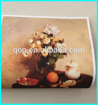 water resistant 270gsm matte 100% polyester 600d inkjet printing canvas