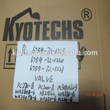 VALVE FOR 6754-72-1223 6754-72-1220 6754-72-1221 PC270-8 PC200-8 PC308VSLS-3 WA380Z-6 HB215LC WA380-6