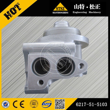 High quality excavator parts on PC450-8 of oil filter head 6217-51-5103 wholesale price