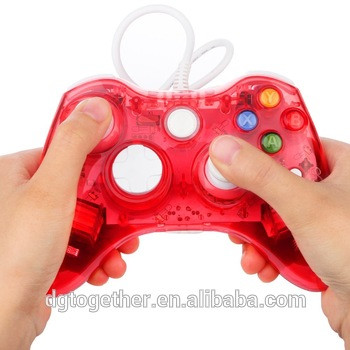 Wired USB Game Controller Gamepad Game Joystick Joypad for Windows7/8/10(Red)
