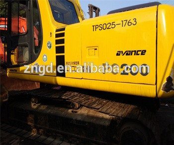Used Japan Komatsuu PC200-6 PC200-7 PC220-7 pc220-8 pc300 pc360 pc400 pc450 crawler excavator 20T 22 ton with LONG BOOM