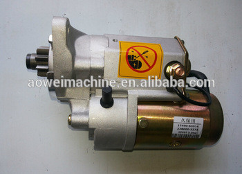 PC56 excavator starter motor,kubota engine starting throttle motor, engine parts,17490-63014, 228000-5273,PC56-7 START MOTOR