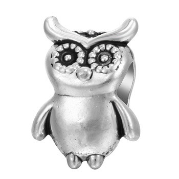 925 Sterling Silver Charms Fit Original Bead Bracelet Silver Owl Exotic Steel Beads Accessories DIY Fashion Jewelry Gift