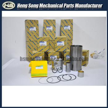 6D108 engine Cylinder Liner Kit,rubuilt kit Excavator PC300-6,PC200-7-6,PC200-7,PC200-8,PC300-5,PC300-7,PC360-7,PC400