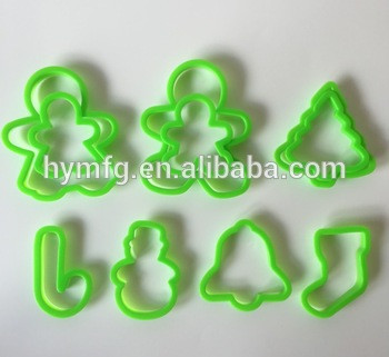 New design 10pcs christmas plastic cookie cutter