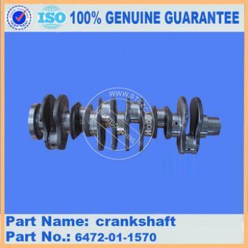 s6d108 crankshaft 6222-61-1400 pc360-7 engine crankshaft