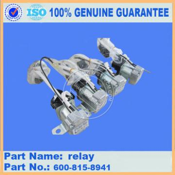 Excavator engine parts PC130-8MO relay 600-815-8941 with high quality