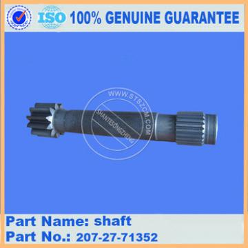 excavator undercarriage parts final drive shaft 207-27-71352 for PC270-7 PC270-8 PC300-7 PC300-8 PC360-7 PC360-8
