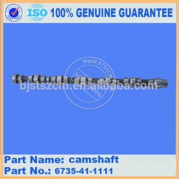 Hot sales excavator parts PC270-7 camshaft 6735-41-1111 made in China high quality