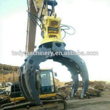 5-9 tons pc56 pc60 excavator used attachments hydraulic rotating rock grab
