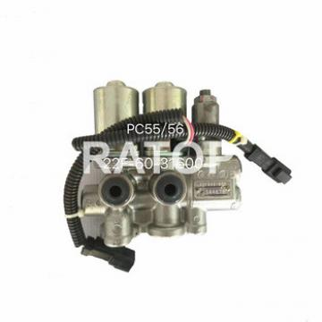 Hot sale Excavator parts PC55 PC56 22F-60-31600 22F-60-21201 solenoid valve group