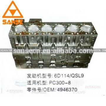 Good price 6D114 engine cylinder block OEM 3939313/4946370 for PC360-7 PC300-8 Excavator