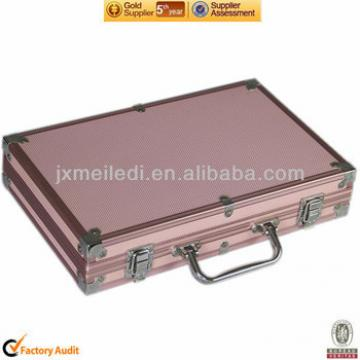 MLD-PC56 300pc High-quality Hot Selling Pink Briefcase aluminum poker case with 11.5g chips dices