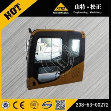 PC160-7 cab assy high quality excavator parts 208-53-00272 lower price