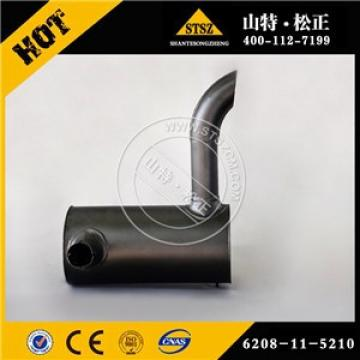 Japan brand engine parts PC130-7 muffler 6208-11-5210 with high quality