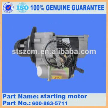 Excavator spare parts PC360-7 SAA6D114 starting motor 600-863-5711