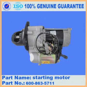 Excavator engine SAA6D114 parts starting motor 600-863-5711 for PC300-7/PC360-7