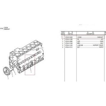 6742-01-4320 6742-01-2880 CAMSHAFT excavator spare parts pc300-7,pc360-7,valve wholesales.