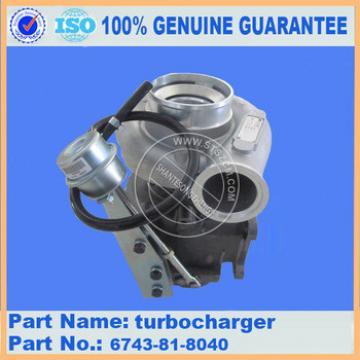 Turbocharger for excavator PC360-7 6743-81-8040 PC300-7 turbocharge