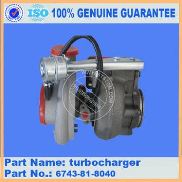 Excavator PC360-7 turbocharger 6743-81-8040 engine parts genuine guarantee