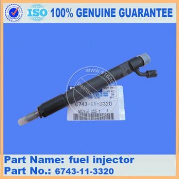Genuine parts PC360-7 fuel injector 6743-11-3320 engine parts
