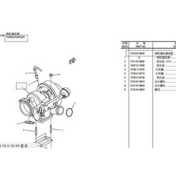 6743-81-8040 TURBOCHARGER PC300-7 PC360-7 water pump pc60-7 6205-61-1202 excavator spare parts in stock