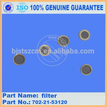 Competitive price excacator parts PC360-7 filter 702-21-53120 high quality