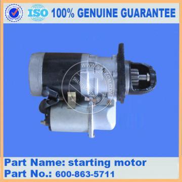 PC 300-7/ PC360-7 excavator starter motor 60-863-5711 start motor