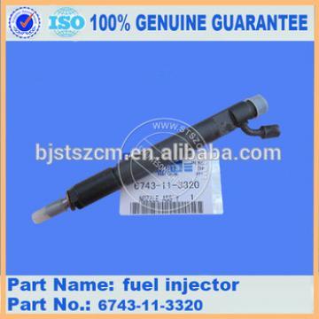 PC360-7 PC300-7 excavator parts fule injector 6743-11-3320