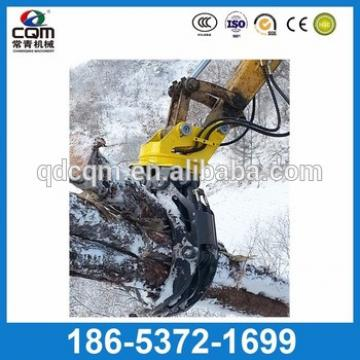 Excavator hydraulic wood grapple log grapple Rock grab for pc130 pc200 pc240 pc300