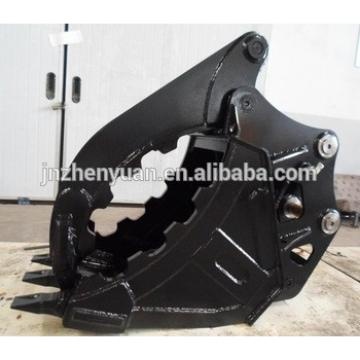 Hot selling Hydraulic thumb bucket for excavator pc60 pc130 ex75 ex120