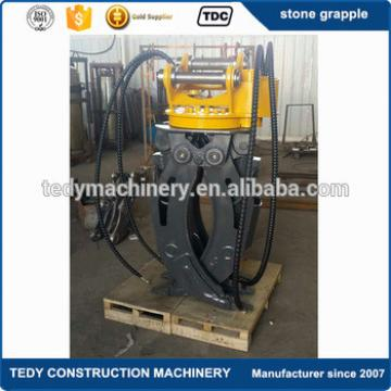 10-15 tons komatsu pc120 pc130 pc160 excavator attachments 360 degree hydraulic rotating rock grapple grabs for sale