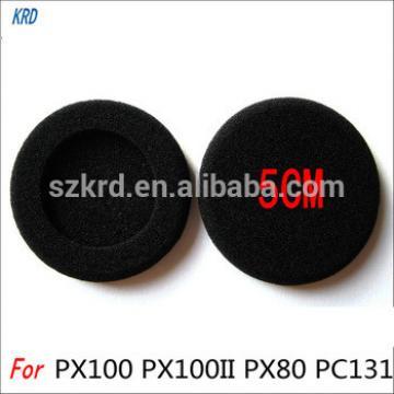 5CM Diameter Sponge Ear Pads Earpads Ear Buds For Sennheiser PC130 PC131 PX100 H500 Earphones