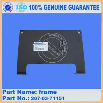 Competitive price excacator parts PC160-7 frame 21K-30-D1110 high quality