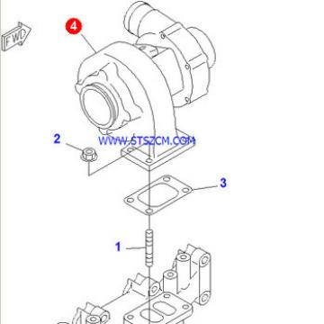 Jining Shante Songzheng PC130-6 engine turbocharger 6732-81-8100