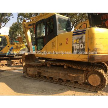 secondhand original Japan Komatsu PC160 crawler excavator