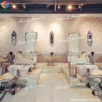 custom made high quality modern pedicure spa chair leather cover