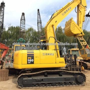 Used Japan Komatsu pc160 crawler excavator 16 ton PC160LC-7 escavator with good condition