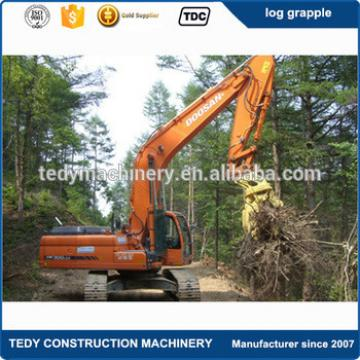 17-26 tons PC160 PC220 PC200 PC210 PC230 PC240 excavator attachments hotsale timber wood grapple log loader for sale